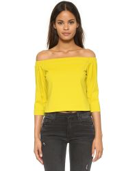 Tibi - Yellow Off Shoulder Top - Lyst