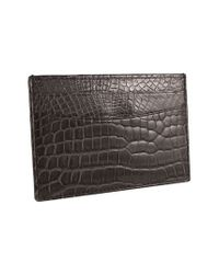 Trafalgar - Black Genuine Alligator Leather Card Case for Men - Lyst
