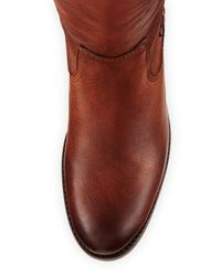 Frye - Brown Janis Tumbled Leather Knee Boot - Lyst