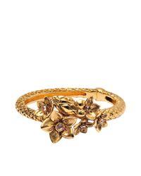 Roberto Cavalli - Metallic Serpent Bouquet Bracelet - Lyst