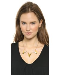 Rebecca Minkoff - Metallic Triple V Necklace - Gold - Lyst