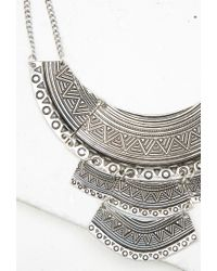 Forever 21 - Metallic Tribal-inspired Bib Necklace - Lyst