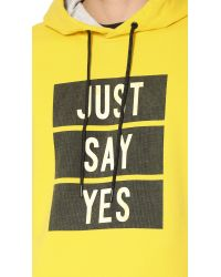 Marc By Marc Jacobs Yellow Just Say Yes Sweatshirt for men