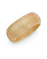 Saks Fifth Avenue | Metallic Goldplatedmesh Cuff Bracelet | Lyst