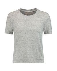 J Brand Gray Rasa Cotton-blend Jersey Top