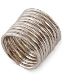 Lucky Brand | Metallic Silver-tone Stacked Ring | Lyst