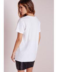 Missguided - Black Get It On Slogan T Shirt White - Lyst