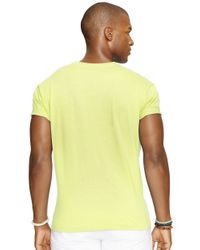 Polo Ralph Lauren | Yellow Classic-fit Jersey Pocket Crewneck for Men | Lyst