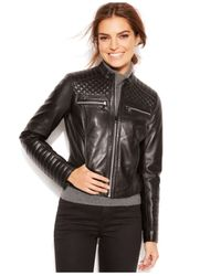 Marc New York - Black Grace Quilted Leather Motorcycle Jacket - Lyst