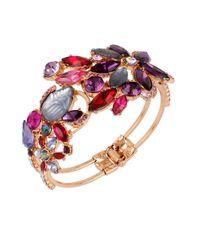 Betsey Johnson | Purple Fall Follies Stone Cuff Bracelet | Lyst