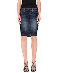 Guess - Blue Denim Skirt - Lyst
