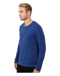 Lucky Brand | Blue Duofold Henley for Men | Lyst