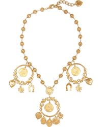 Dolce & Gabbana - Metallic Gold-tone Charm Necklace - Lyst