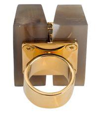 Marni - Metallic Natural Horn Crystal Ring - Lyst