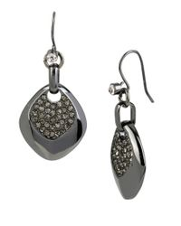 Kenneth Cole | Black Pave Status Sculptural Drop Earrings | Lyst