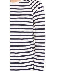 Harvey Faircloth - Blue Sailor Stripe Boyfriend Tee - Lyst