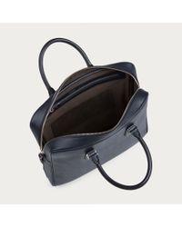 Bally Nellen Men's Leather Business Bag In New Blue for men