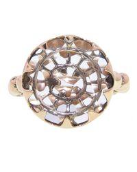 Laurent Gandini - Metallic Scalloped Ring - Lyst