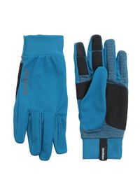 Patagonia Blue Wind Shield Running Gloves