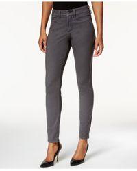 NYDJ | Gray Alina Skinny Jeans | Lyst