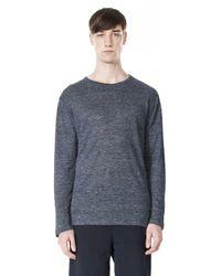 Alexander Wang - Blue Crew-Neck Linen T-Shirt for Men - Lyst