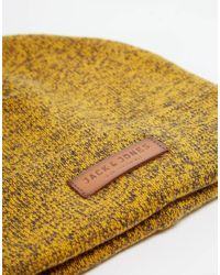 Jack & Jones | Yellow Knit Beanie for Men | Lyst