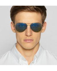 Gucci - Green Mirrored Metal Aviator Sunglasses for Men - Lyst