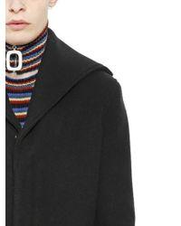 J.W.Anderson Black Double Wool Coat