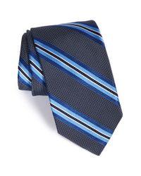 Robert Talbott Blue Stripe Silk Tie for men
