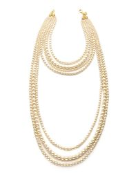 Ben-Amun | White Imitation Pearl Layer Necklace - Pearl | Lyst