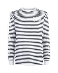 Billionaire Boys Club - Ice Cream Gray Striped Astro Head Long Sleeve T-shirt for men