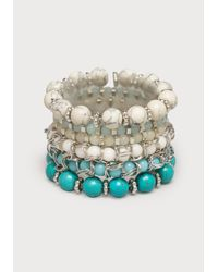 Bebe | Blue Beaded Stretch Bracelet Set | Lyst