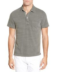 Faherty Brand | Gray Trim Fit Cotton Polo for Men | Lyst