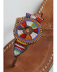 Laidbacklondon | Brown What Will Be Will Bead Sandal | Lyst