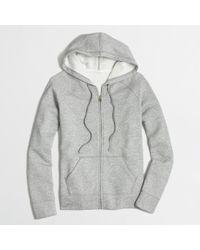 J.Crew - Gray Factory Fleece Full-Zip Hoodie - Lyst