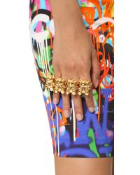 Moschino | Metallic Bear Rings - Gold | Lyst