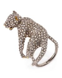 Alexis Bittar Metallic Elements Lounging Panther Cocktail Ring
