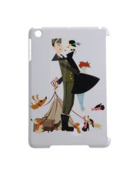 DSquared² White Couple Print Ipad Case for men