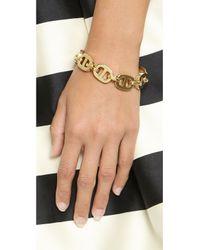 Michael Kors Metallic Maritime Link Toggle Bracelet - Gold