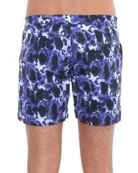 Thorsun Blue Tortoise-print Swim Shorts for men
