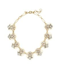 J.Crew - Metallic Multipoints Crystal Necklace - Lyst