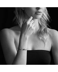 David Yurman   Metallic Cable Classics Bracelet With Diamonds And Gold   Lyst