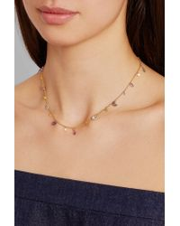 Marie-hélène De Taillac - Metallic Stormy Night 18-karat Gold Multi-stone Necklace - Lyst