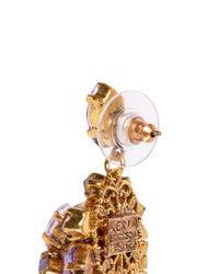 Aerin | Purple X Erickson Beamon Crystal Drop Earrings | Lyst