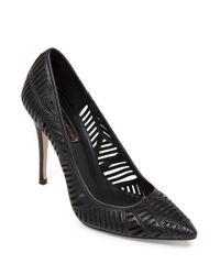 BCBGeneration Black Ovation High-heel Leather Pumps