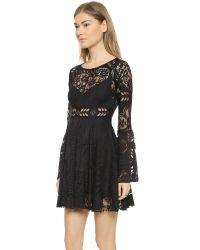 Free People - Black Psychomagic Dress - Lyst
