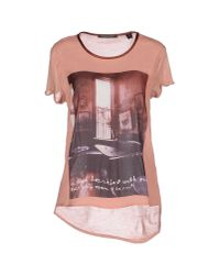 Maison Scotch - Pink T-shirt - Lyst