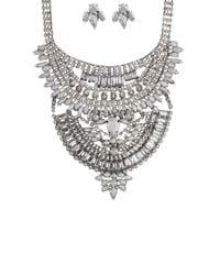 AKIRA - Metallic Be-jeweled Life Black Night Crystal Necklace & Earring Set - Lyst