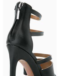 Mango Black Multiple Strap Sandals