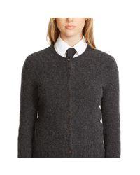 Polo Ralph Lauren - Gray Wool-cashmere Cardigan - Lyst